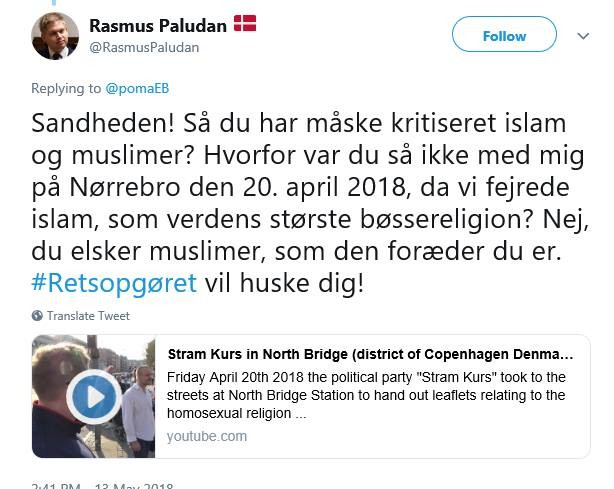 Screenshot fra Twitter