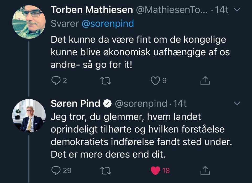 Screenshot fra twitter til dokumentation