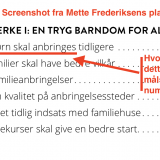 Screenshot fra Socialdemokraternes plan