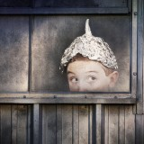 Boy in tinfoil hat