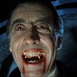 Christopher Lee som Dracula anno 1958. (Filmfoto via Wikimedia Commons)