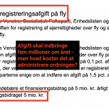 Screenshot fra finansloven