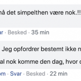 screenshot fra facebook