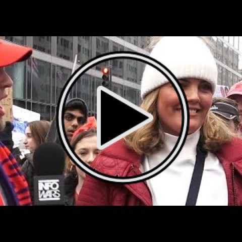 VIDEO:  Women's Marcher Sexually Assaults Male Reporter