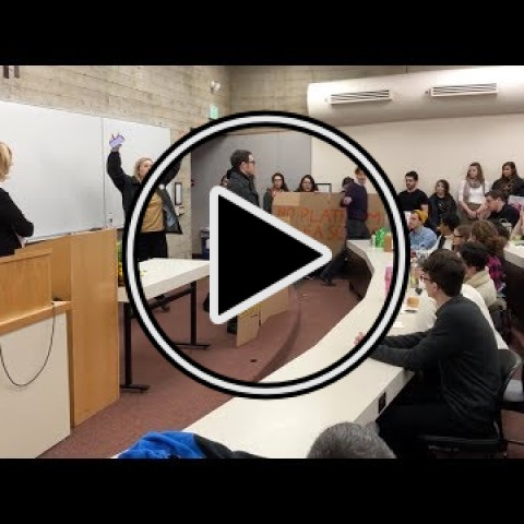 Protesters try to shut down Christina Hoff Sommers at Lewis & Clark Law School
