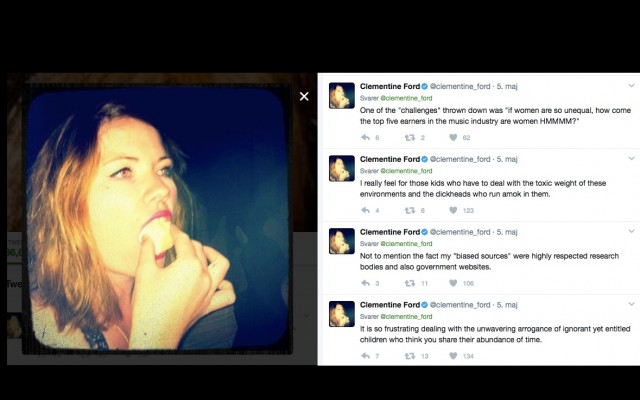 Screenshot fra Clementine Fords twitter